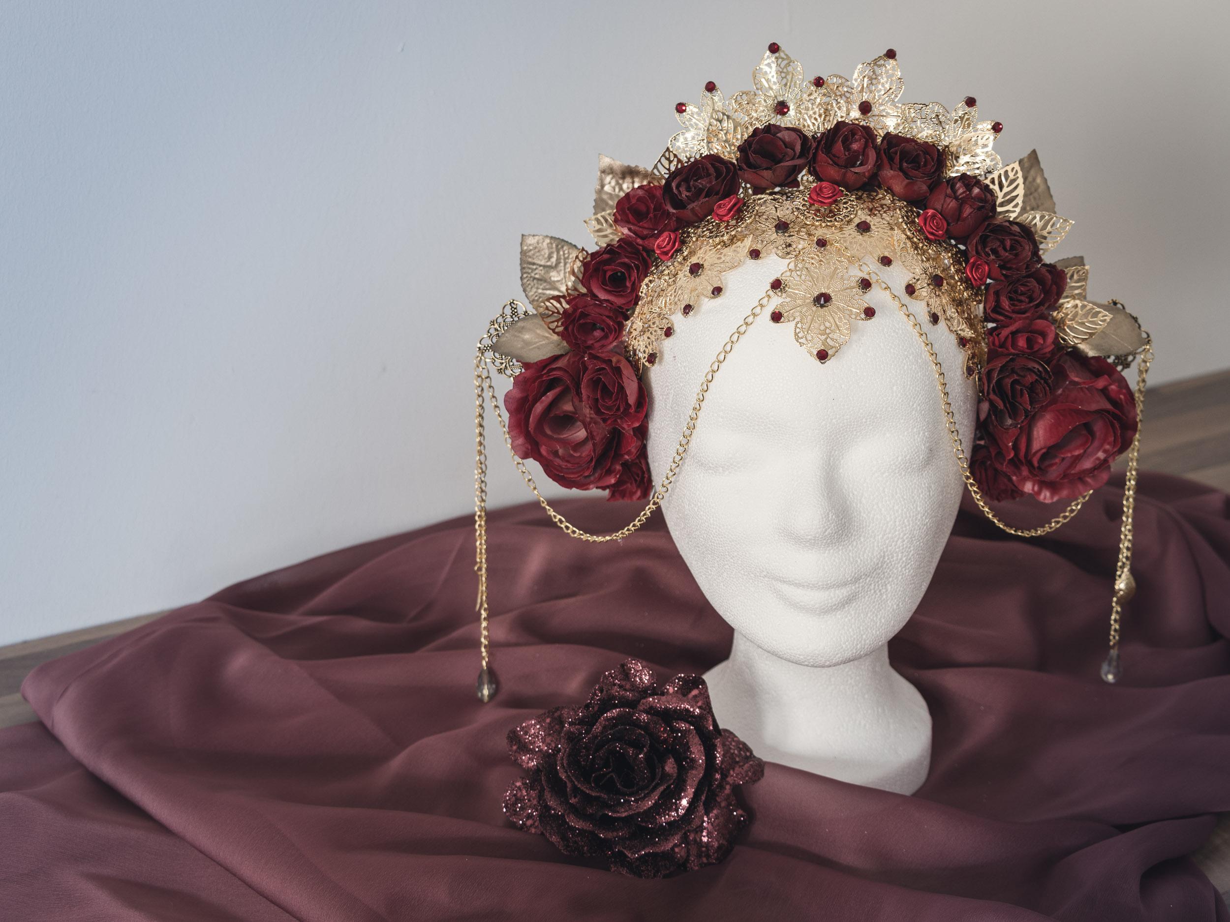 Rosenkönigin Kopfschmuck